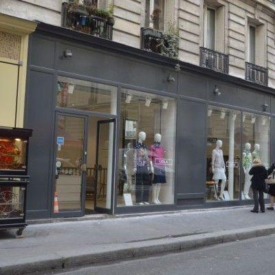 Peinture et mise en état de la façade d'une boutique